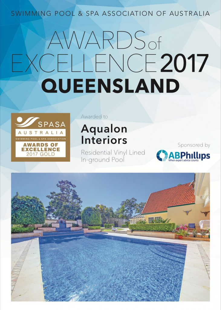 2017-Certificate_GOLD_QLD-Aqualon-Interiors-Residential-Vinyl-Lined-In-Ground-Pool-731x1024